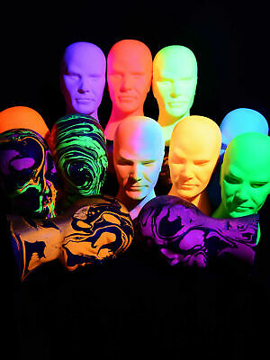 Glowhead Schwarzlicht Deko Kopf Blacklight Space Neon Psy Goa Blacklight UV Head