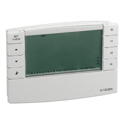 CALEFFI Thermostat ambiance programmable digital filaire IP30-PILES