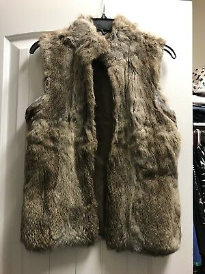 Authentic Michael Kors Rabbit Fur Vest S Used