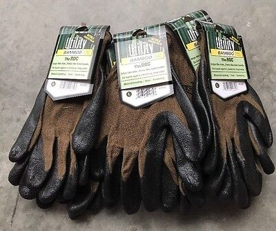 "Lot Of 5 - Utility Bamboo ""the Roc"" Large Nitrile  Coat Palm Glove (gt8)"