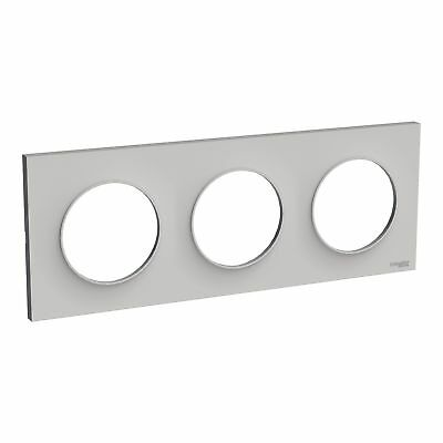 Plaque de finition ODACE Styl 3 postes - Sable - S520706B1