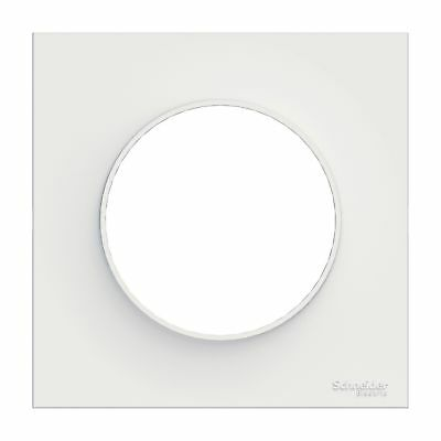 Plaque de finition ODACE Styl 1 poste - Blanc - S520702