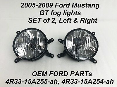 New OEM Fog Light Lamp PAIR Fits 2005-2009 Ford Mustang GT Left & Right