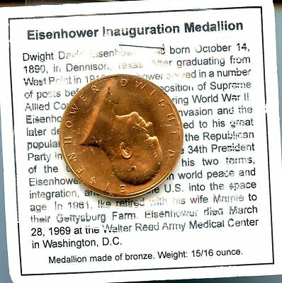 1953 ~ Dwight Eisenhower Presidential Inauguration Medal ~ Bu