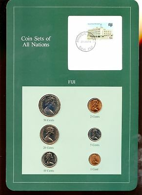 "Fiji ~ 1981 & 1982 ~ 6 Coin Set ~ Bu ~ ""coin Sets Of All Nations"""