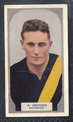 Hoadleys-Victorian Football Ers (51-100)-Aussie Rules-#077- Richmond - Geddes