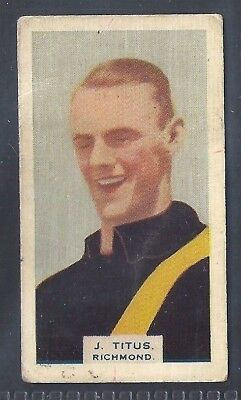 Hoadleys-Victorian Football Ers (Heads 1-50)-Aussie Rules-#001- Richmond - Titus