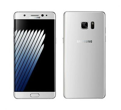 Samsung Galaxy Note 7 in Silber Handy Dummy Attrappe - Requisit, Deko, Werbung