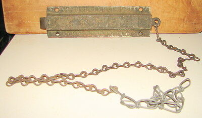 Antique Cast Iron Victorian Eastlake Door Top Latch Dead Bolt Spring Lock