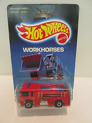 Hot Wheels Workhorses Fire Eater No. 9640 Vintage Garage Item Collectable