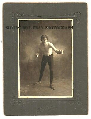 An Unidentified Old Time Boxer Or Wrestler Antique Mounted Photo. Hammond, IN.