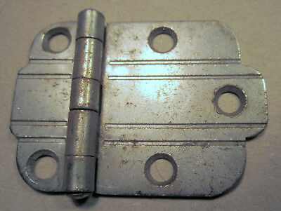 Hinge Chrome Art Deco Antique Door Cabinet Furniture Part Old Single Salvage