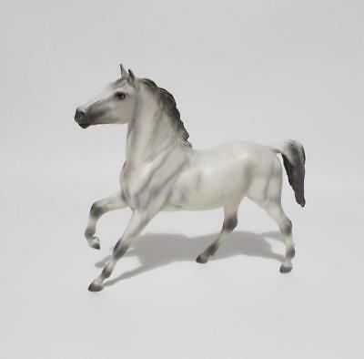 "Breyer Prancing Horse Gray White Stallion Model Molding Co 7"" Tall"