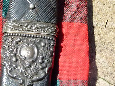 ANTIQUE SCOTTISH  SGIAN DUBH 1880s WITH USE  SMOKY QUARTZ CAIRNGORM STONE