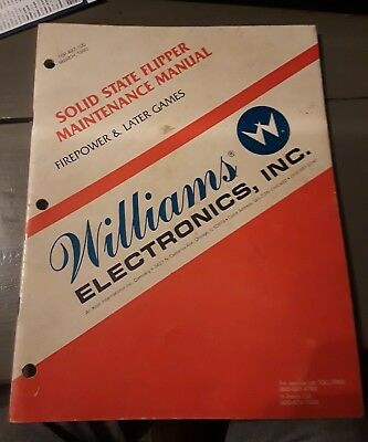 Williams Solid State Flipper Maintenence Manual