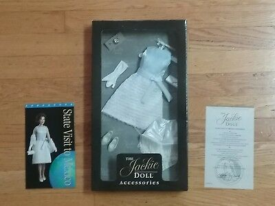 FRANKLIN MINT JACKIE ensemble outfit new in box 14 15 doll COA blue dress Mexico