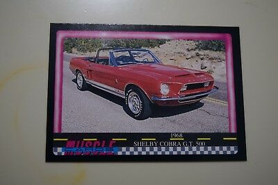 Muscle Cards Series 1 King Of The Hill #25 1968 Shelby Cobra Gt 500