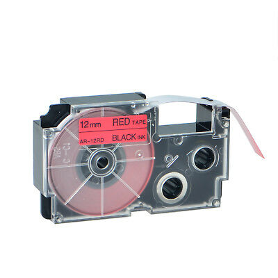 """1PK XR-12RD Black on Red Label Tape for Casio KL-60 100 7000 8200 8800 1/2"""""""
