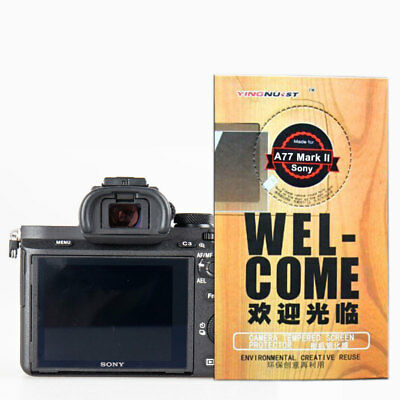 Magic 9H Tempered Glass Film Screen Protector for Sony Alpha A77 Mark II