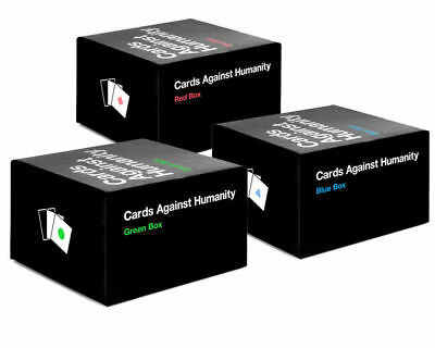 Cards Against Humanity All Expansion BOXES THREE SETS(Red, Blue, Green) AU