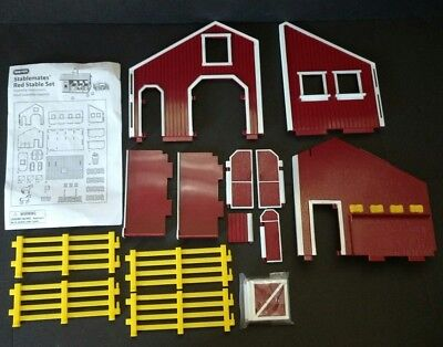 Used Breyer Stablemate Red And White Stable Barn Missing Pieces.
