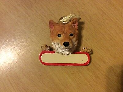 E&S IMPORTS Christmas Pet Lover SHIBA INU Dog Ornament Gift Personalize It!