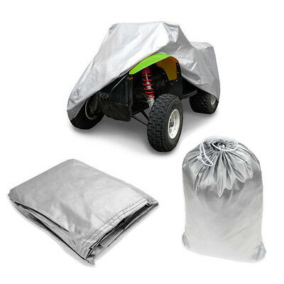 M Universal ATV Quad Bike Cover Silver Waterproof Dustproof Sun Anti-UV Snow