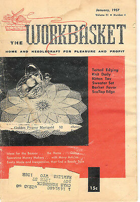 1957 Ten Issues of The Workbasket Magazine Vol. 22 No. 4 To Vol. 23 No. 3