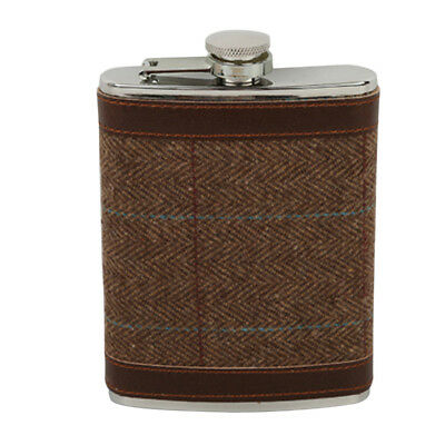 8 oz Flask Stainless Steel Screw Down Cap Hip Pocket Liquor Wine Flask #5