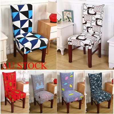 AU Dining Room Wedding Banquet Chair Cover Party Seat Protect Stretch Spandex