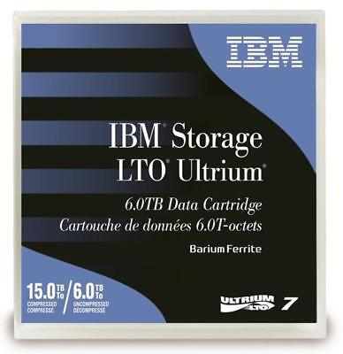 IBM 5 x LTO7 ULTRIUM 6.0TB / 15.0TB RW DATA CARTRIDGE (38L7302)