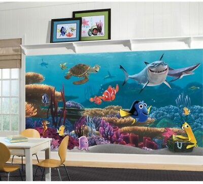 Disney Finding Nemo Prepasted Mural, 6 X 10.5 Washable Animation Pattern