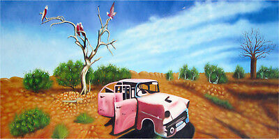 Australia Retired To The Outback framed art Print  painting by  jane crawford
