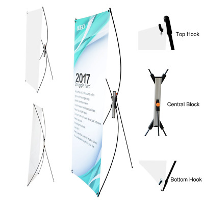 "T-Sign Premium Adjustable Tripod X Banner Stand Fits Banner Sizes From 23""X63"" t"