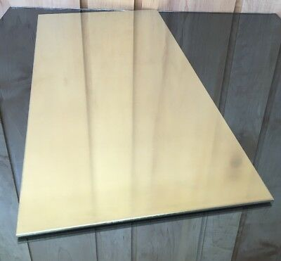 "1/8 BRASS SHEET PLATE NEW 10""X20"" .125 Thick *CUSTOM 1/8 SIZES AVAILABLE*"
