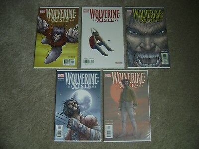 Wolverine Xisle #1 2 3 4 5 Complete Series Set Marvel Comics 2003 Jones Lucas Nm