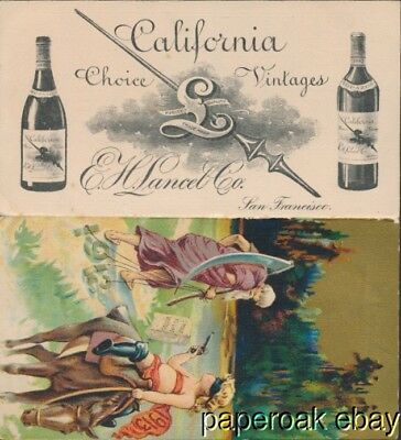 1912  E.H. Lance San Francisco California Wine Dealers Announcement Card