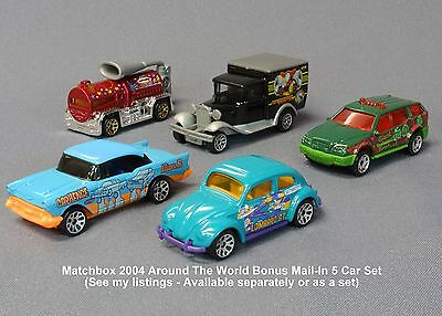 MATCHBOX 2004 Around the World 1962 VW Beetle Bug Lombard St Mail-in RARE