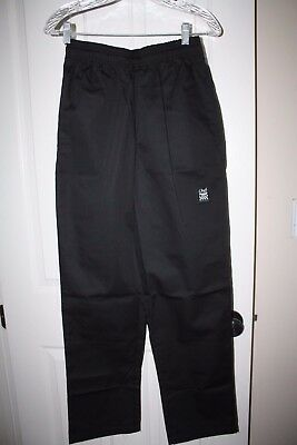 """NWT New!  Chef Revival Baggy Pants, Black, Small 28"""" - 30"""", BRAND NEW P020BK-S"""