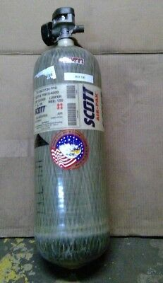 Scott 4500psi 60min Carbon SCBA Air Pak Bottle Cylinder Breathing Tank Mfr 2004