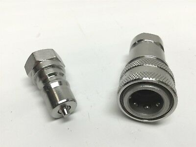 Parker SSH2-62Y & 63Y Stainless Steel Hydraulic Quick Coupler Set, Nipple, Body