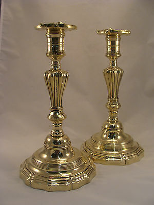 Unique Pair Antique French Bronze / Brass candlesticks Louis XV 18th.C.