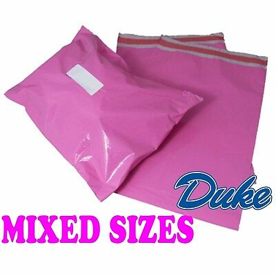 50 Mixed Pack of PINK Strong Plastic Mailing Postage Bags