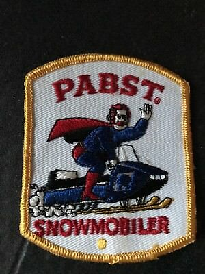 VIntage 1970s pabst Beer guy snowmobile jacket patch New Old Stock NR