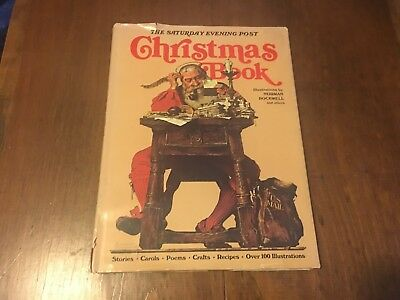 The Saturday Evening Post Christmas Book- Norman Rockwell - 1976 HC/DJ - ILLUS