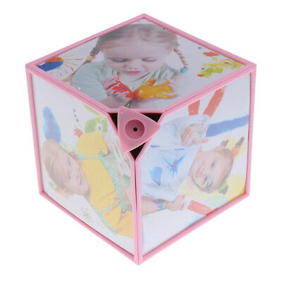 """6 in 1 6"""" Rotating Cube Picture Photo Frame For Christmas Home Decor Gifts"""