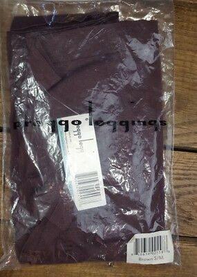 NWT Maternity Leggings Preggo Brand Brown Sz S/M USA Designed Stylish NEW (E1)