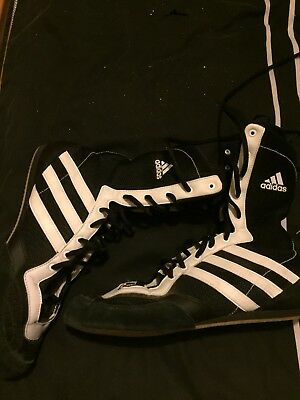 adidas boxing boots size 8 black