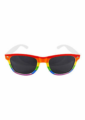 Gay sunglasses Pride Rainbow Glasses with Dark Lens Rainbow LGBT Festival .