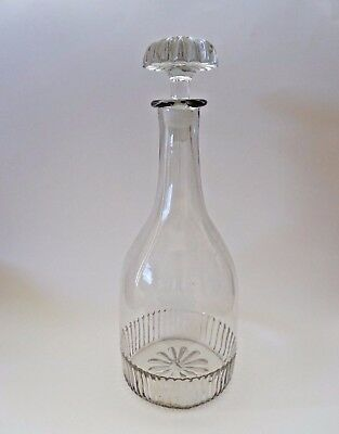 "19th C BLOWN THREE MOLD DECANTER LARGE 12.5"" TALL"